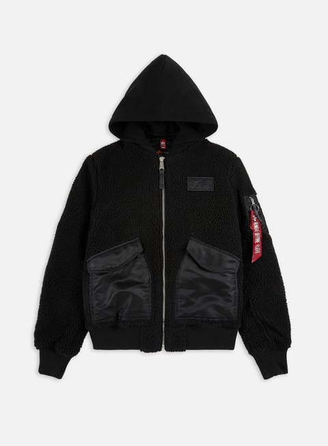 Alpha Industries CWU Teddy Zip Hooded Jacket