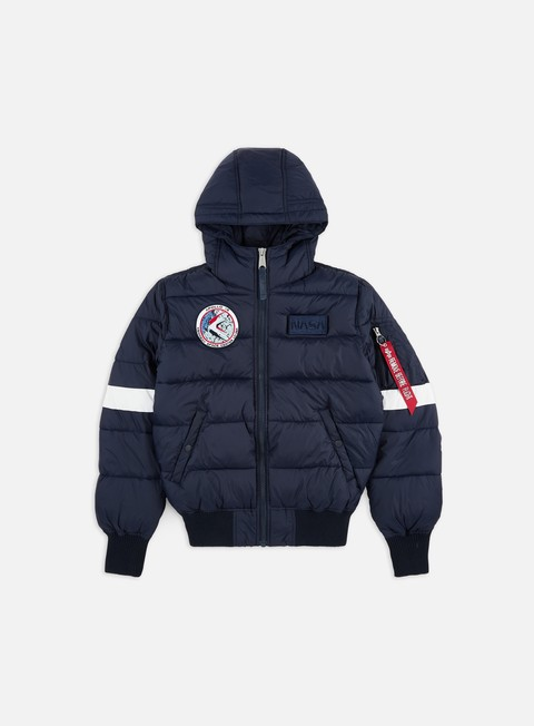 Down Jackets Alpha Industries Hooded Puffer FD Nasa Jacket