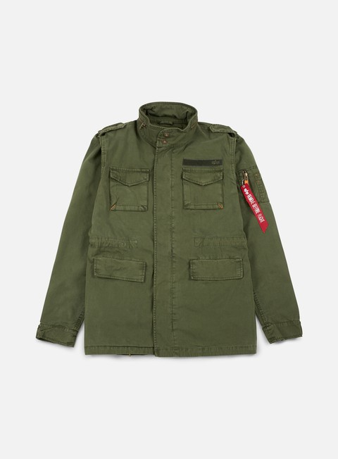 giacche alpha industries huntington jacket dark olive