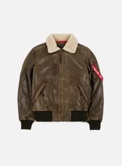 Alpha Industries - Injector III Leather Jacket, Vintage Brown 1