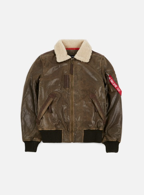Outlet e Saldi Giacche Intermedie Alpha Industries Injector III Leather Jacket