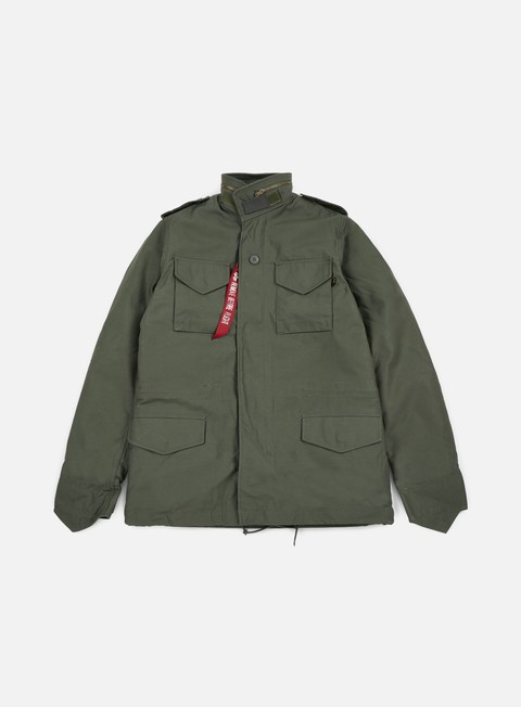 giacche alpha industries m 65 heritage jacket olive