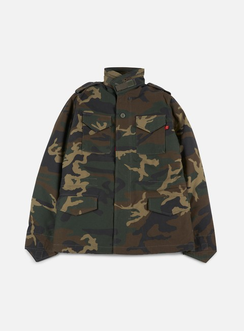 giacche alpha industries m 65 heritage jacket woodland camo