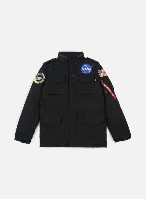 giacche alpha industries m 65 heritage nasa jacket black