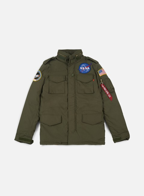 giacche alpha industries m 65 heritage nasa jacket dark olive