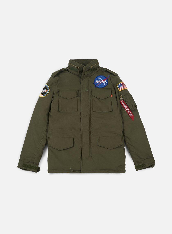 Alpha Industries - M-65 Heritage NASA Jacket, Dark Olive