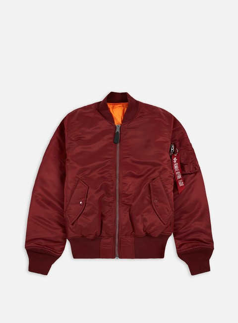 giacche alpha industries ma 1 flight jacket burgundy