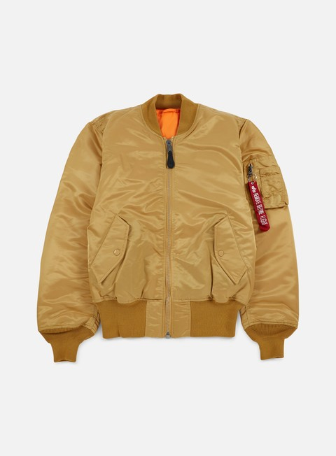 giacche alpha industries ma 1 flight jacket gold