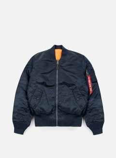 Alpha Industries - MA-1 Flight Jacket, Replica Blue 1