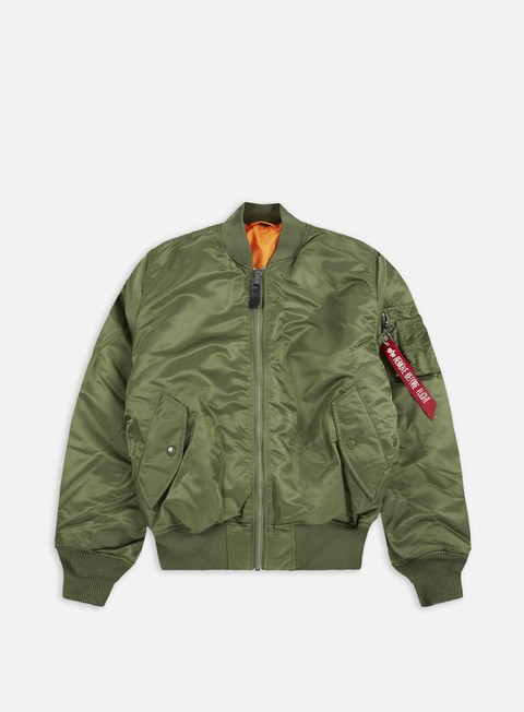 giacche alpha industries ma 1 flight jacket sage green