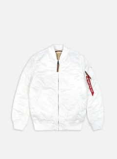 Alpha Industries - MA-1 Flight Jacket Slim, White 1