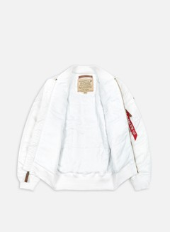 Alpha Industries - MA-1 Flight Jacket Slim, White 2