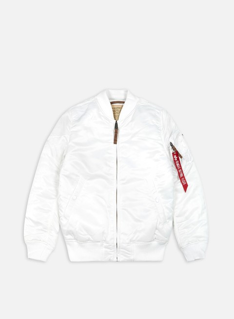 giacche alpha industries ma 1 flight jacket slim white
