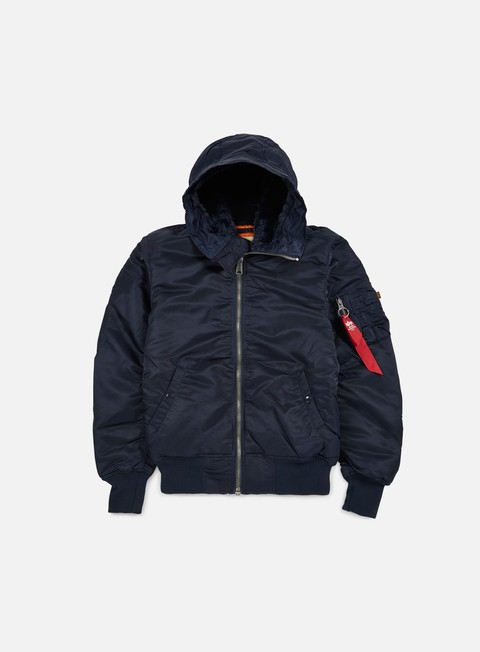 Outlet e Saldi Giacche Intermedie Alpha Industries MA-1 Hooded W.O. Fur Flight Jacket