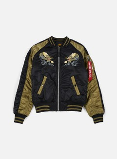 Alpha Industries - MA-1 Souvenir Japan Dragon Jacket, Black 1