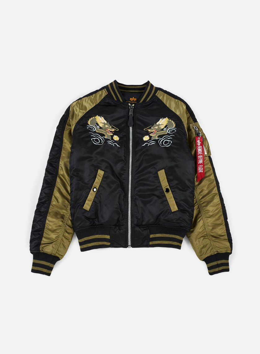 Alpha Industries - MA-1 Souvenir Japan Dragon Jacket, Black