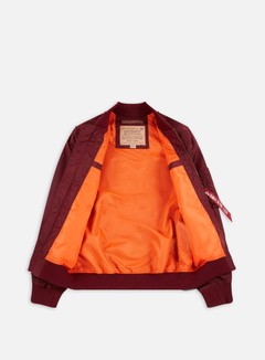 Alpha Industries - MA-1 TT Flight Jacket, Burgundy 2