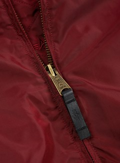 Alpha Industries - MA-1 TT Flight Jacket, Burgundy 4