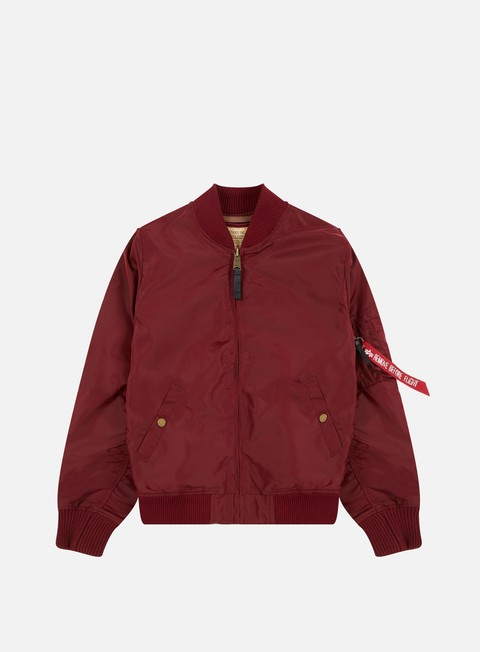 giacche alpha industries ma 1 tt flight jacket burgundy