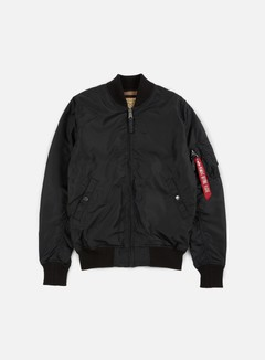 Alpha Industries - MA-1 TT Long Flight Jacket, Black 1