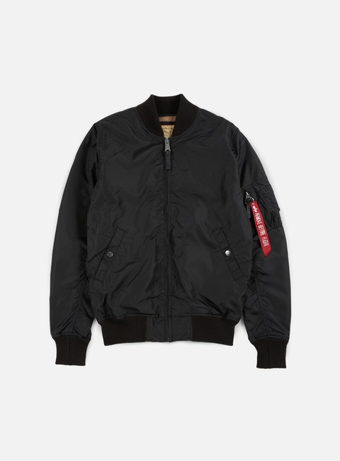 giacche alpha industries ma 1 tt long flight jacket black