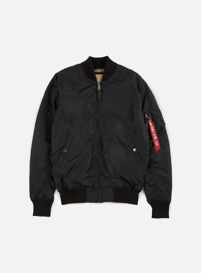 Alpha Industries - MA-1 TT Long Flight Jacket, Black