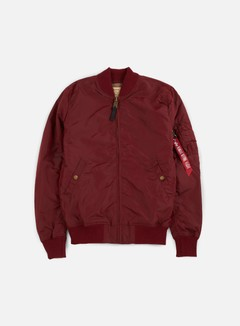 Alpha Industries - MA-1 TT Long Flight Jacket, Burgundy 1