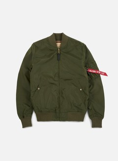 Alpha Industries - MA-1 TT Long Flight Jacket, Dark Green 1