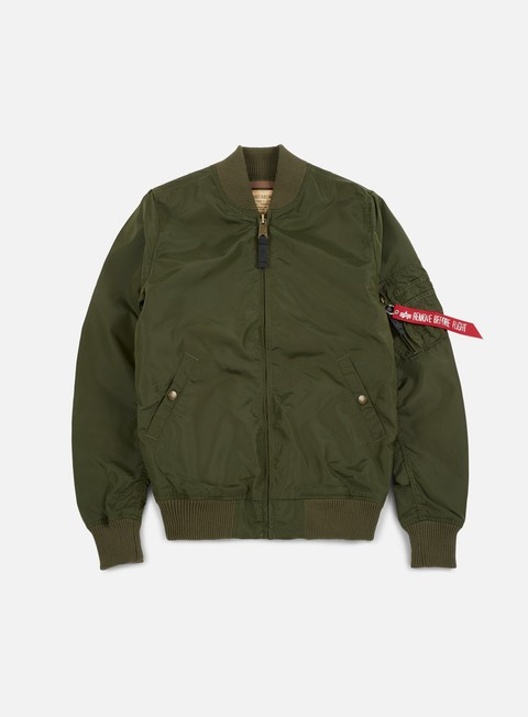giacche alpha industries ma 1 tt long flight jacket dark green