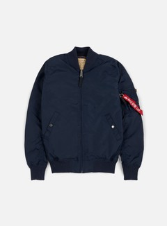 Alpha Industries - MA-1 TT Long Flight Jacket, Replica Blue
