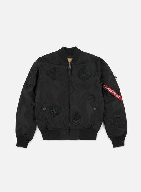 giacche alpha industries ma 1 tt patch ii flight jacket all black