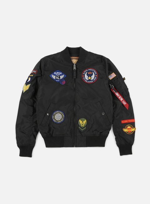 giacche alpha industries ma 1 tt patch ii flight jacket black