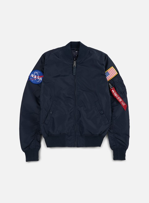 giacche alpha industries ma 1 tt reversible nasa flight jacket replica blue