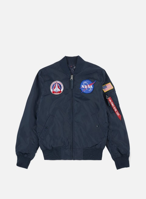 giacche alpha industries ma 1 tt reversible nasa flight jacket replica blue inside star