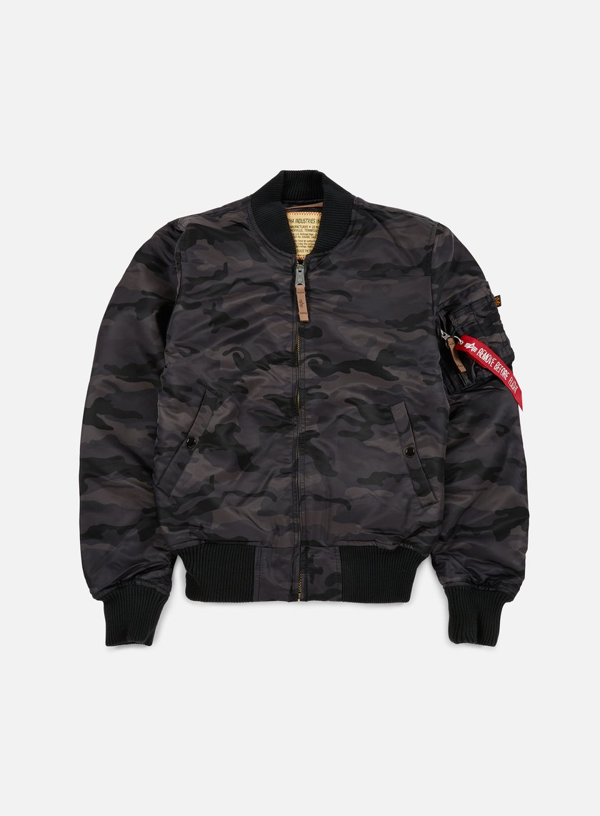 Alpha Industries - MA-1 VF 59 Camouflage Flight Jacket, Black Camo