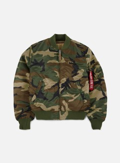 Alpha Industries - MA-1 VF 59 Camouflage Flight Jacket, Woodland Camo 1