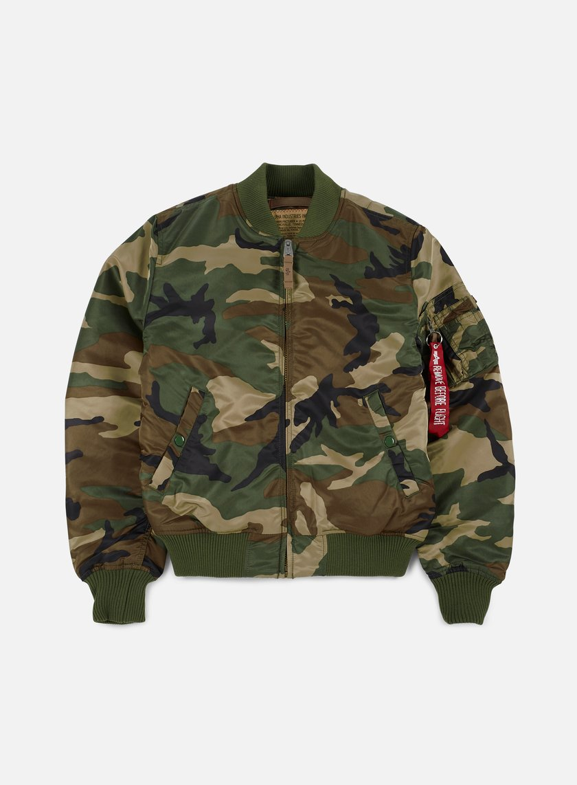 Alpha Industries - MA-1 VF 59 Camouflage Flight Jacket, Woodland Camo