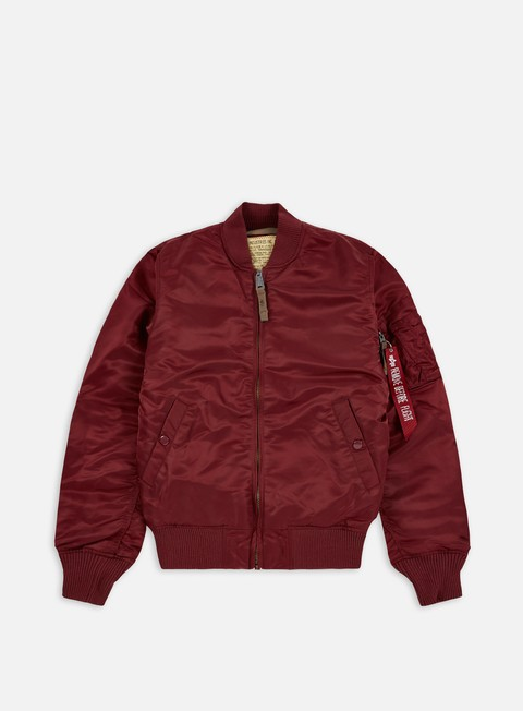 giacche alpha industries ma 1 vf 59 flight jacket burgundy