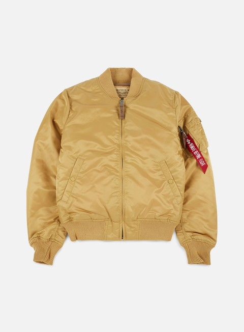 giacche alpha industries ma 1 vf 59 flight jacket gold