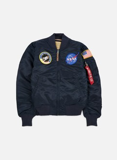 Alpha Industries - MA-1 VF 59 NASA Flight Jacket, Replica Blue