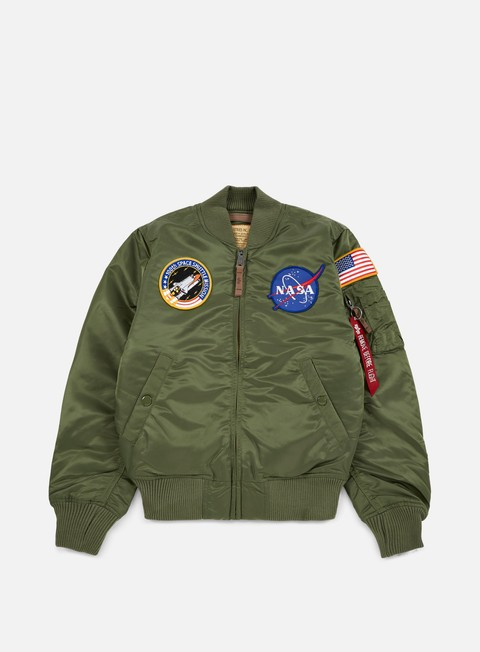 giacche alpha industries ma 1 vf 59 nasa flight jacket sage green