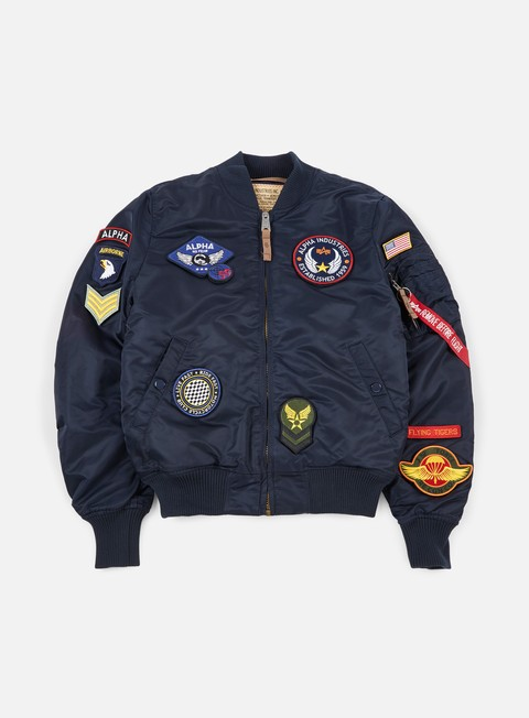 giacche alpha industries ma 1 vf diy flight jacket replica blue