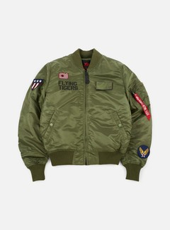Alpha Industries - MA-1 VF Flying Tigers Flight Jacket, Sage Green 1