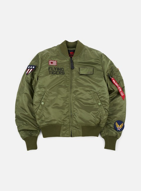 giacche alpha industries ma 1 vf flying tigers flight jacket sage green