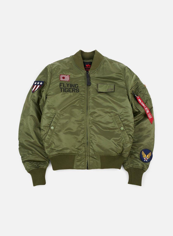 Alpha Industries - MA-1 VF Flying Tigers Flight Jacket, Sage Green