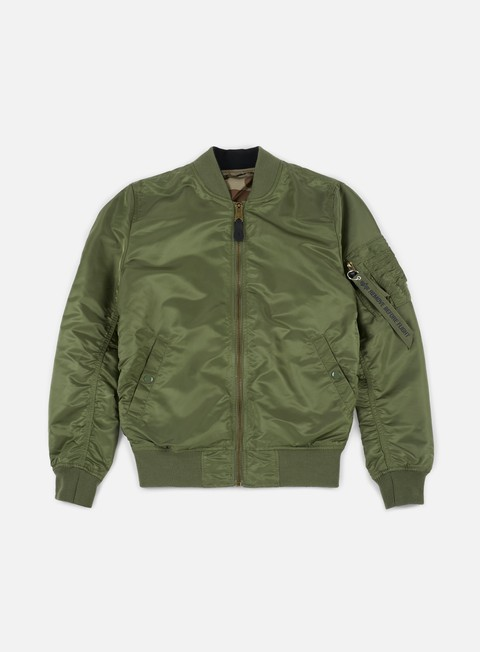 giacche alpha industries ma 1 vf lw reversible flight jacket sage green