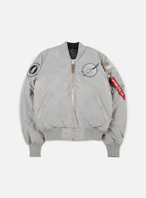 giacche alpha industries ma 1 vf nasa flight jacket silver