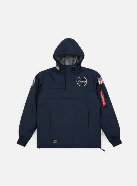 giacche alpha industries nasa anorak replica blue