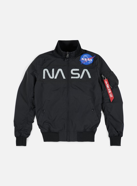 giacche alpha industries nasa jacket black