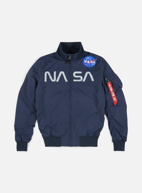 giacche alpha industries nasa jacket replica blue